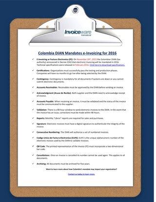 Colombia checklist