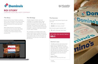 Yieldify case study - Domino's Pizza