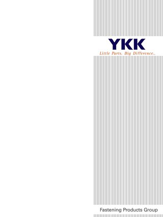 YKK Zipper Instruction Manual