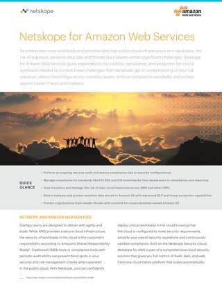 Netskope for Amazon Web Services