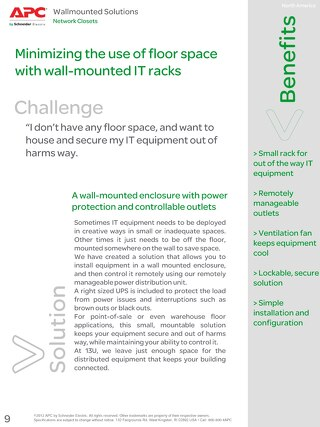 Minimizing the use of Floor Space with Wall-Mounted IT Racks