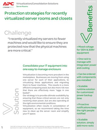Protection Strategies for Recently Virtualized Server Rooms and Closets