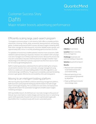QuanticMind Customer Success Story - Dafiti