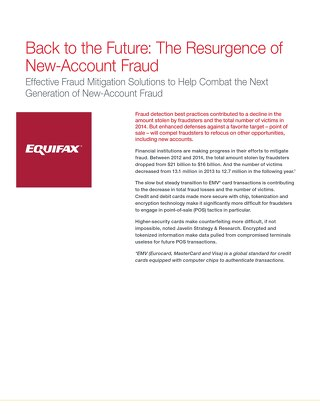 The Resurgence of New Account Fraud