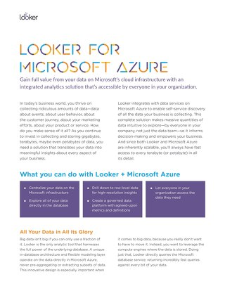 Looker for Microsoft Azure