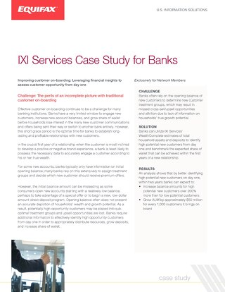 IXI Services Case Study for Banks