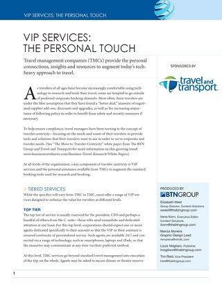 VIP Services - The Personal Touch