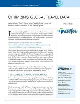 Optimizing Global Travel Data