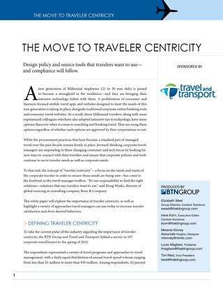 The Move to Traveler Centricity