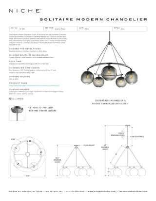 Sola Chandelier Collection - Tear Sheets