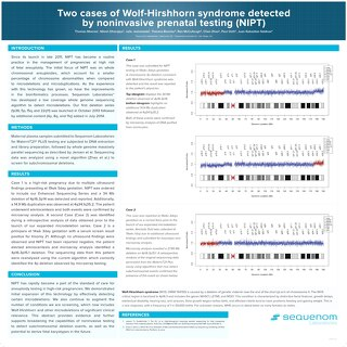 Two cases of Wolf-Hirshhorn syndrome detected by noninvasive prenatal testing (NIPT)