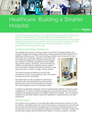 Schneider Electric Healthcare: Building a Smarter Hospital