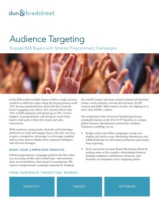 Enagage B2B Buyers with Audience Targeting