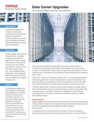 Harvard Pilgrim Achieved Cost Efficiency with Its Data Center Upgrade