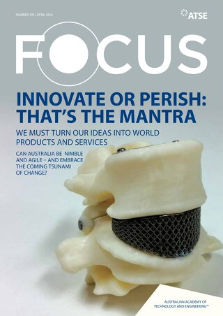 Focus 195: Innovate or perish: that's the mantra - We must turn our ideas into world products and services