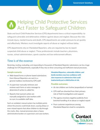 Helping CPS Act Faster to Safeguard Children