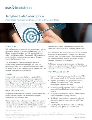 Targeted Data Subscription: Accelerate Your Demand Generation