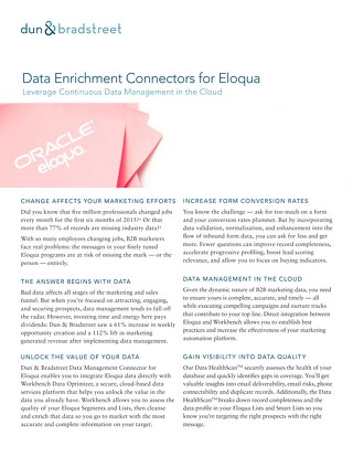 Data Enrichment Connector for Eloqua