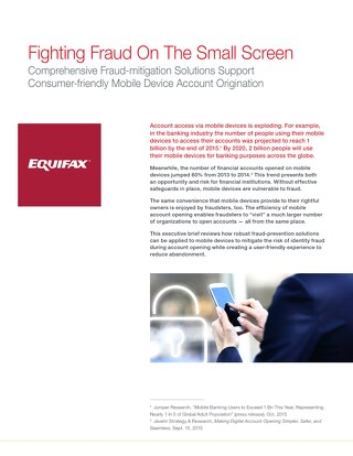 Fighting Fraud On The Small Screen
