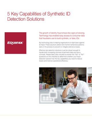 5 Key Capabilities of Synthetic ID Detection Solutions