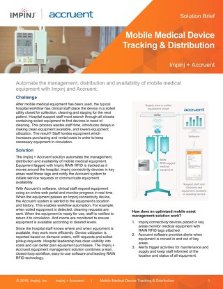 Mobile Medical Device Tracking and Distribution