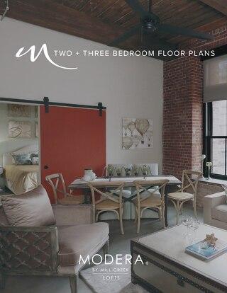 Modera Lofts 2 & 3 Bedroom Floor Plans