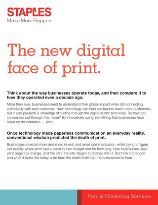 The New Digital Face of Print Whitepaper