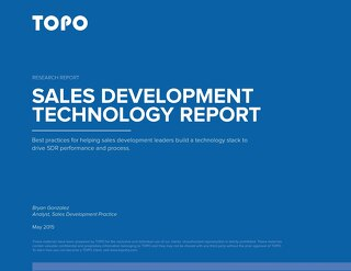 TOPO Sales Development Technology Report