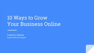 10 Ways to Grow Your Business Online