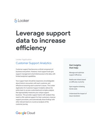 Looker for Customer Support Analytics