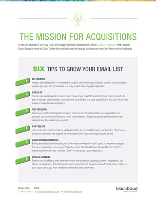 6 Tips to Grow Your Email List