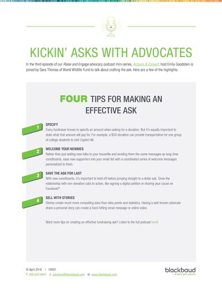4 Tips for Making an Effective Ask