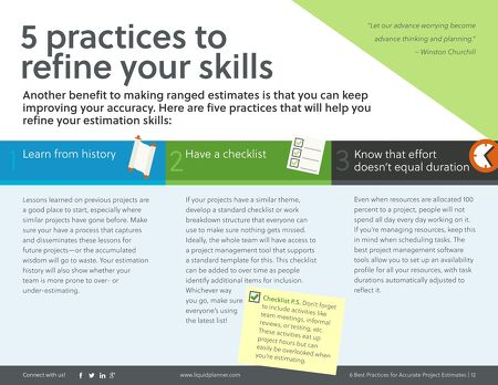 eBooks - Six Best Practices for Accurate Project Estimation