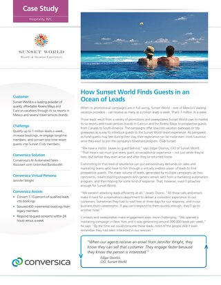 Sunset World Case Study