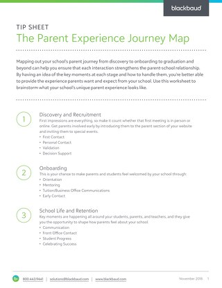 The Parent Experience Journey Map