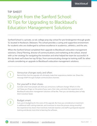 "Straight from the Sanford School: 10 Tips for Upgrading to the ""ON"" Products"