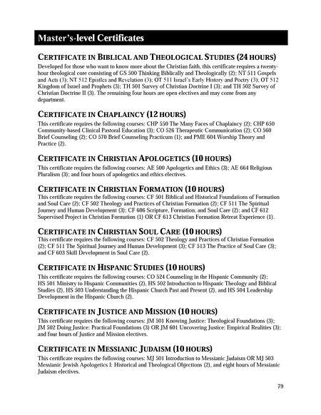 Denver Seminary - Academic Catalog 2016-2017