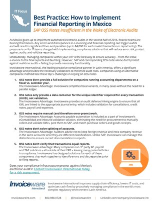 Mexico Reporting Tips