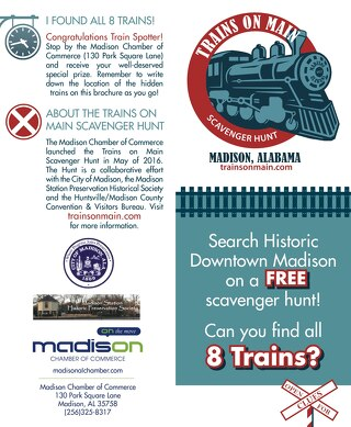 Trains on Main Scavenger Hunt Clue Card