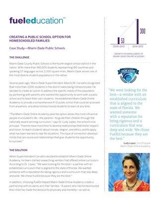 Miami-Dade Public Schools Case Study