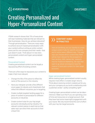 Creating Personalized and Hyper-Personalized Content