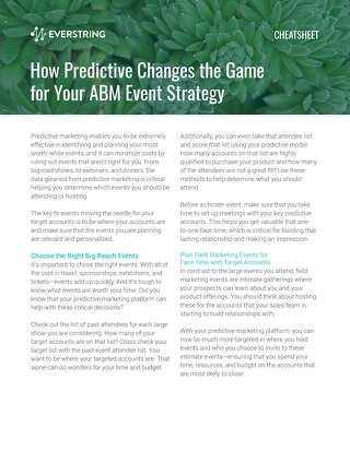 How Predictive Changes the Game for Your ABM Event Strategy