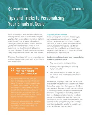 Tips and Tricks to Personalizing Your Email at Scale
