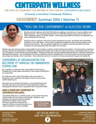 CenterPath Wellness Summer 2016 NewBrief