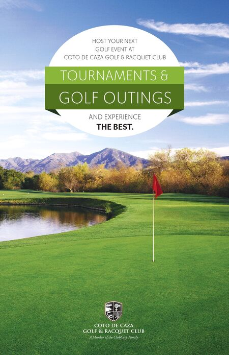 Tournaments Brochure  Tournaments  Outings  Coto De Caza Golf
