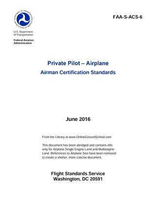 Private Pilot Documents