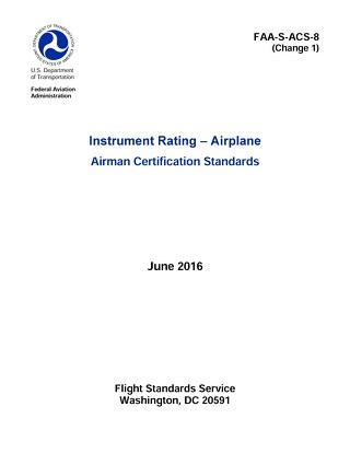 Instrument Rating ‒ Airplane Airman Certification Standards 6/16