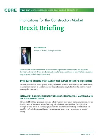 Brexit - Implications for the Construction Market