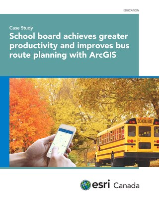 School board achieves greater productivity and improves bus route planning with ArcGIS
