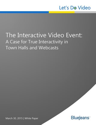 A Case for True Interactivity in Town Halls and Webcasts